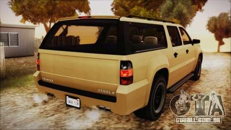 GTA 5 Declasse Granger SA Style para GTA San Andreas esquerda vista