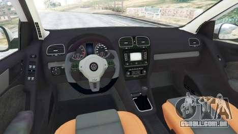GTA 5 Volkswagen Golf Mk6 v2.0 [WRC Polo] traseira direita vista lateral