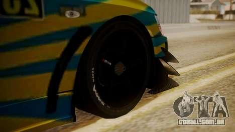 Mitsubishi Lancer Evolution Pushkar para GTA San Andreas traseira esquerda vista