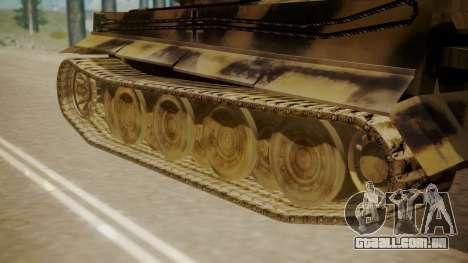 Panzerkampfwagen VI Tiger Ausf. H1 para GTA San Andreas traseira esquerda vista