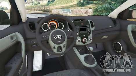 GTA 5 Kia Forte Koup SX [Beta] traseira direita vista lateral