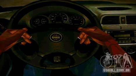 Subaru Impreza WRX STI Wagon para GTA San Andreas vista interior