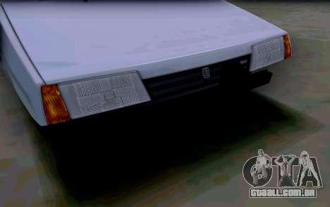 VAZ 2108 V2 para vista lateral GTA San Andreas