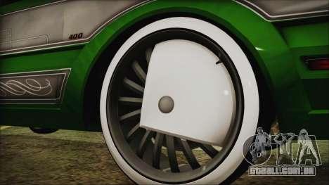 GTA 5 Faction LowRider DLC para GTA San Andreas traseira esquerda vista