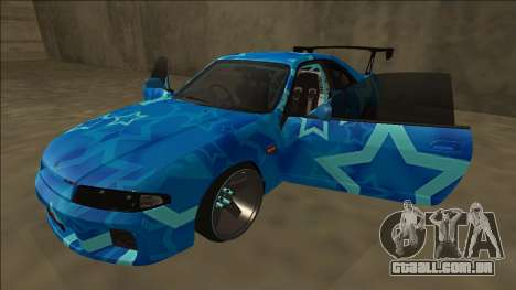 Nissan Skyline R33 Drift Blue Star para GTA San Andreas vista inferior