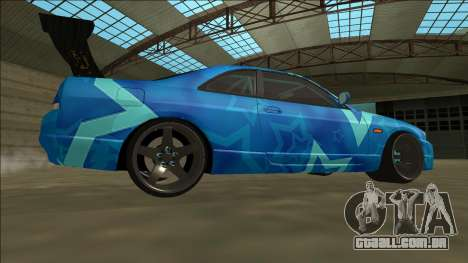 Nissan Skyline R33 Drift Blue Star para GTA San Andreas vista direita