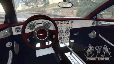 GTA 5 Spyker C8 Aileron traseira direita vista lateral