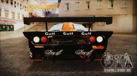 McLaren F1 GTR 1998 para GTA San Andreas vista interior