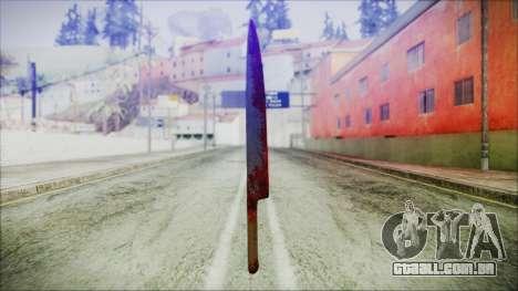 Helloween Butcher Knife para GTA San Andreas terceira tela