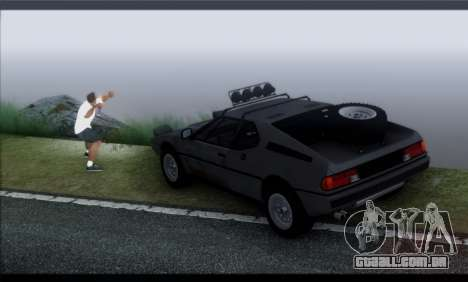 BMW M1 E26 Rusty Rebel para GTA San Andreas vista interior
