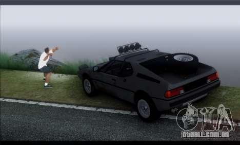BMW M1 E26 Rusty Rebel para GTA San Andreas vista interior