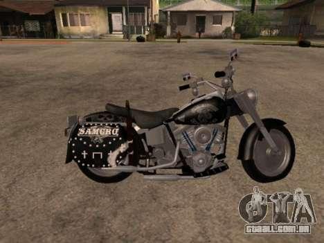 Harley Davidson Fat Boy Sons Of Anarchy para GTA San Andreas