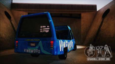 Vinewood VIP Star Tour Bus (Fixed) para GTA San Andreas vista direita
