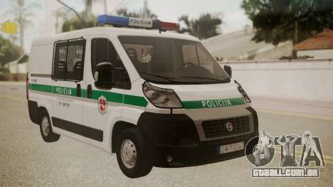 Fiat Ducato Lithuanian Police para GTA San Andreas