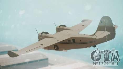 Grumman G-21 Goose WhiteBlueLines para GTA San Andreas esquerda vista