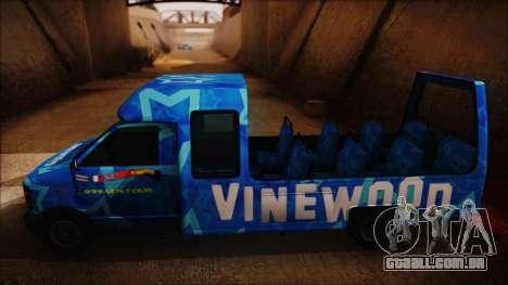 Vinewood VIP Star Tour Bus (Fixed) para GTA San Andreas traseira esquerda vista