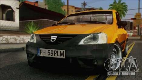 Dacia Logan Pickup 6x6 para GTA San Andreas vista direita