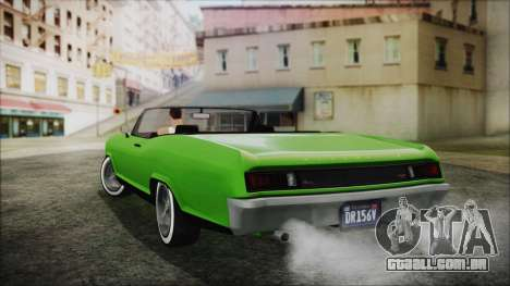GTA 5 Albany Buccaneer Hydra Version IVF para GTA San Andreas esquerda vista