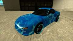 Mazda RX-7 Drift Blue Star