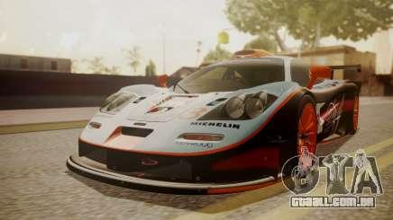 McLaren F1 GTR 1998 Gulf Team para GTA San Andreas