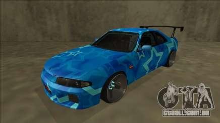 Nissan Skyline R33 Drift Blue Star para GTA San Andreas
