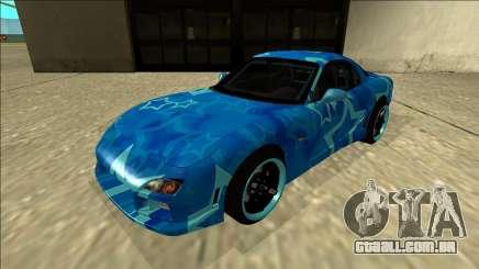 Mazda RX-7 Drift Blue Star para GTA San Andreas