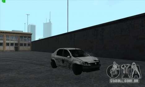 Renault Logan para GTA San Andreas vista inferior