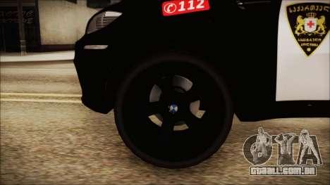 BMW X6 Georgia Police para GTA San Andreas traseira esquerda vista