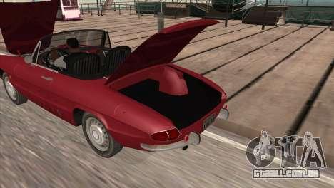 1966 Alfa Romeo Spider Duetto [IVF] para GTA San Andreas traseira esquerda vista