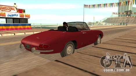 1966 Alfa Romeo Spider Duetto [IVF] para GTA San Andreas esquerda vista
