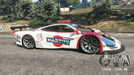 GTA 5 McLaren F1 GTR Longtail [Martini Racing] vista lateral esquerda