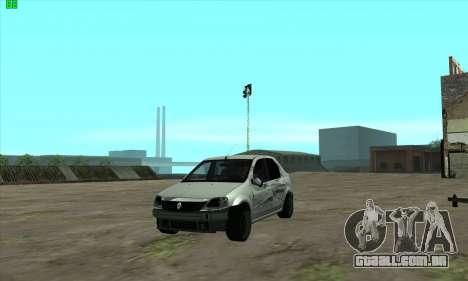 Renault Logan para GTA San Andreas vista superior