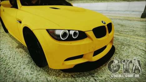 BMW M3 GTS 2011 IVF para GTA San Andreas vista interior