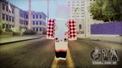 Minecraft Female Skin Edited para GTA San Andreas terceira tela