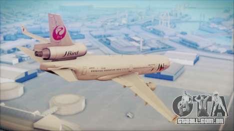 McDonnell-Douglas MD-11 Japan Airlines para GTA San Andreas esquerda vista