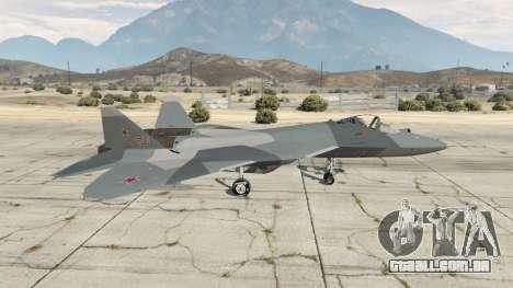GTA 5 T-50 PAK FA v0.02 segundo screenshot