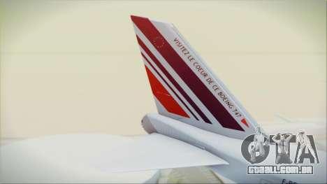 Boeing 747-128B Air France para GTA San Andreas traseira esquerda vista