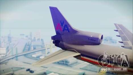 Lockheed L-1011 Tristar American Airlines para GTA San Andreas traseira esquerda vista