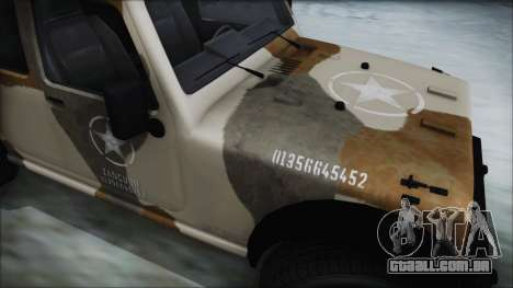 GTA 5 Canis Crusader IVF para GTA San Andreas traseira esquerda vista