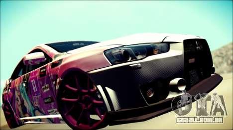 Mitsubishi Lancer Evolution Miku X Luka Itasha para GTA San Andreas vista traseira