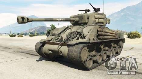 M4A3E8 Sherman Fury para GTA 5