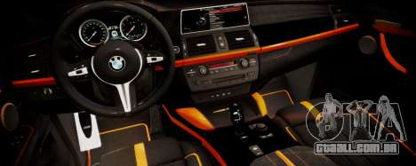 BMW X5M SMOTRA.GT para GTA San Andreas vista direita