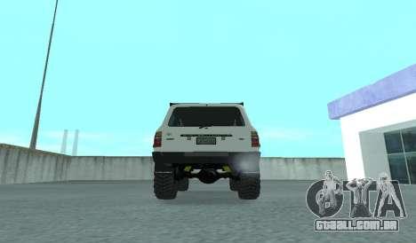 Toyota Autana 4500 off-road LED para GTA San Andreas vista direita