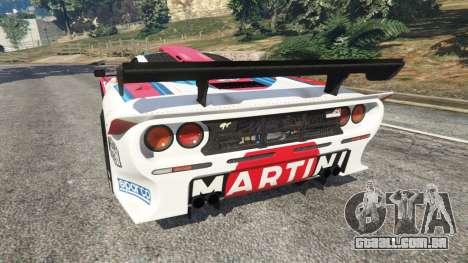 GTA 5 McLaren F1 GTR Longtail [Martini Racing] traseira vista lateral esquerda