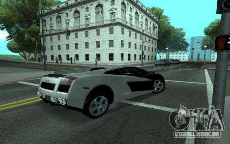 Lamborghini Gallardo Tunable para GTA San Andreas vista superior