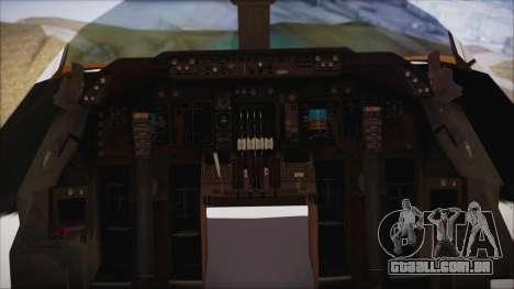 Boeing 747-237Bs Air India Mahendra Verman para GTA San Andreas vista direita