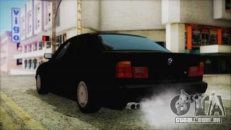 BMW 525i E34 1992 para GTA San Andreas esquerda vista