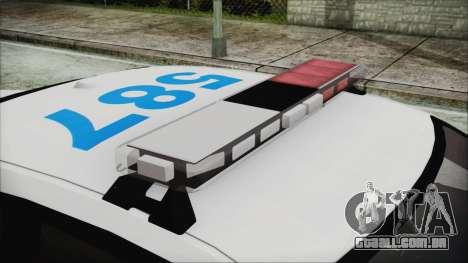 Dodge Charger SRT8 2012 Iraqi Police para GTA San Andreas vista traseira