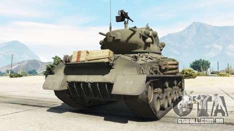 GTA 5 M4A3E8 Sherman Fury traseira vista lateral esquerda