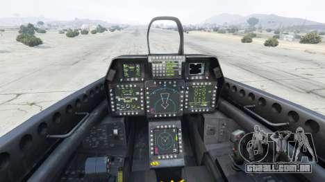 GTA 5 Lockheed Martin F-22 Raptor quinta imagem de tela